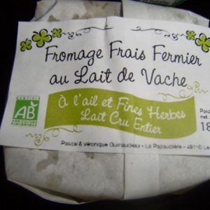 Fromage frais ail